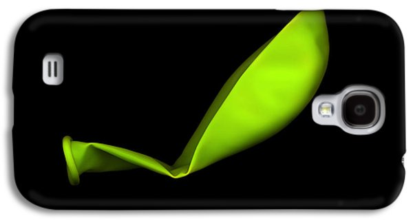 Square Lime Green Balloon Galaxy S4 Case by Julian Cook