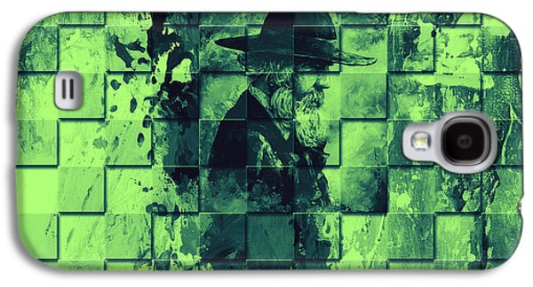 Abstract Digital Art Galaxy S4 Cases - Square mania - Old Man - limeblue Galaxy S4 Case by Emerico Imre Toth