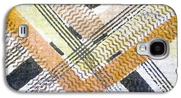 Contemporary Abstract Tapestries - Textiles Galaxy S4 Cases - Square Root of Kapa Galaxy S4 Case by Dalani Tanahy