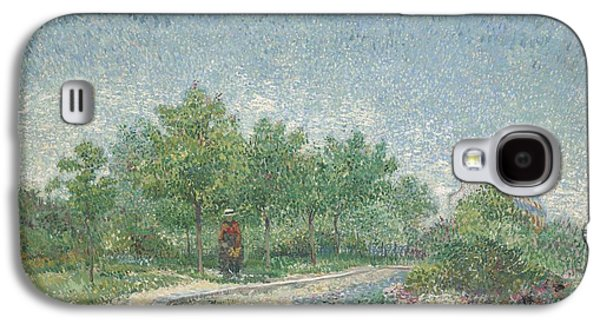 Posters On Paintings Galaxy S4 Cases - Square Saint Pierre Galaxy S4 Case by Vincent van Gogh