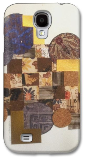 Abstract Collage Drawings Galaxy S4 Cases - Squares and Circles Galaxy S4 Case by Paul Meinerth
