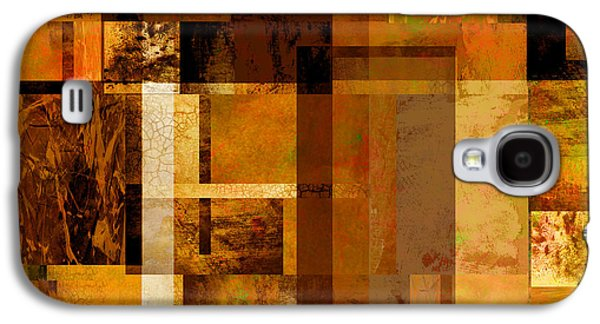 Abstract Digital Art Galaxy S4 Cases - Squares and Rectangles Galaxy S4 Case by Ann Powell