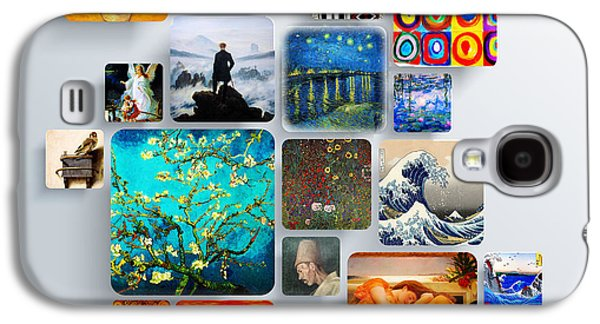 """square Art"" Drawings Galaxy S4 Cases - Squares Galaxy S4 Case by Celestial Images"