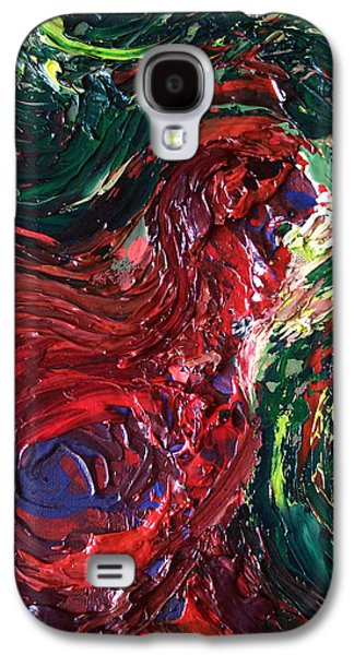Caws Paintings Galaxy S4 Cases - Squawk Galaxy S4 Case by Michael DePalma