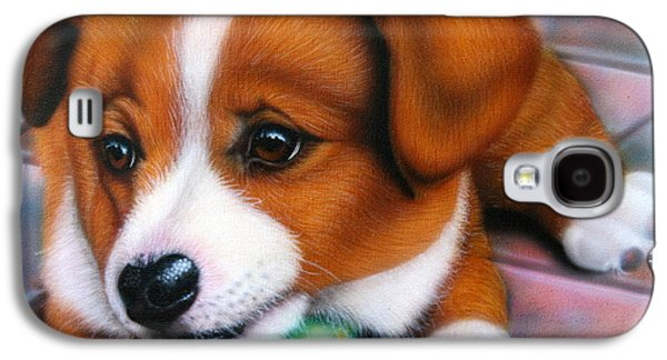 Puppies Galaxy S4 Cases - Squeaker Galaxy S4 Case by Darren Robinson