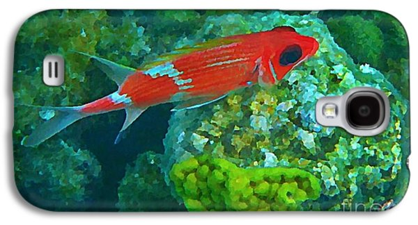 Fish On A Reef Galaxy S4 Cases - Squirrel Fish Galaxy S4 Case by John Malone