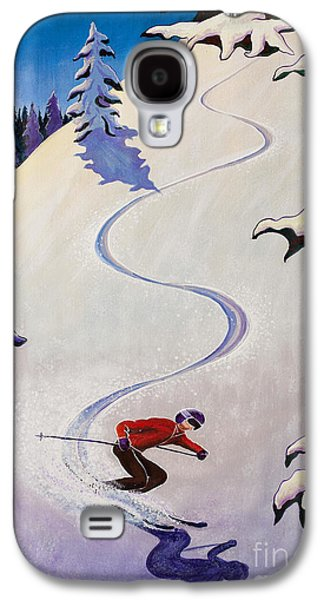 Skiing Posters Paintings Galaxy S4 Cases - sSki by o4rsom Galaxy S4 Case by Tonia Williams