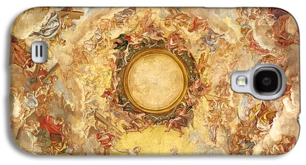Receive Paintings Galaxy S4 Cases - St Agnes is Received into Heaven Galaxy S4 Case by Giovanni Battista Gaulli
