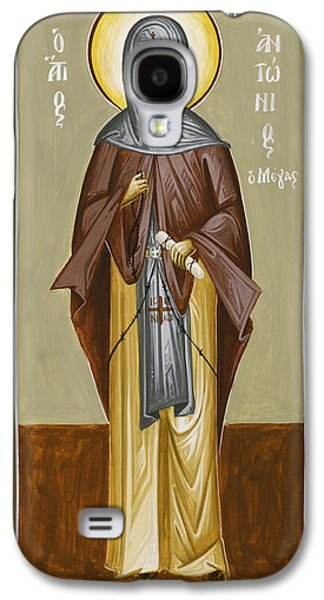 Greek Icon Paintings Galaxy S4 Cases - St Anthony Galaxy S4 Case by Julia Bridget Hayes