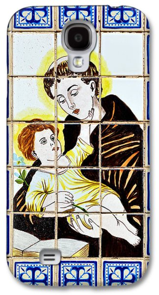 Child Jesus Galaxy S4 Cases - St Anthony of Padua Galaxy S4 Case by Christine Till
