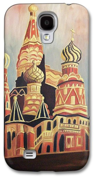 Leclair Galaxy S4 Cases - St Basils Cathedral Moscow Galaxy S4 Case by Suzanne  Marie Leclair