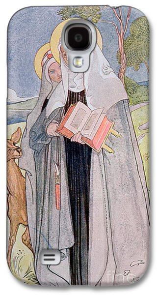 Mystic Paintings Galaxy S4 Cases - St Bridget of Sweden Galaxy S4 Case by Carl Larsson