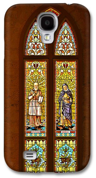 Monica Galaxy S4 Cases - St Francis of Sales and St Monica Galaxy S4 Case by Christine Till