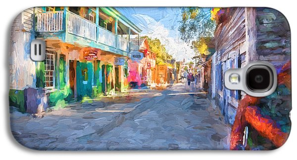 St George Galaxy S4 Cases - St George Street St Augustine Florida Painted Galaxy S4 Case by Rich Franco