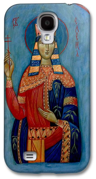 Greek Icon Paintings Galaxy S4 Cases - St. Helen Galaxy S4 Case by Basia Mindewicz