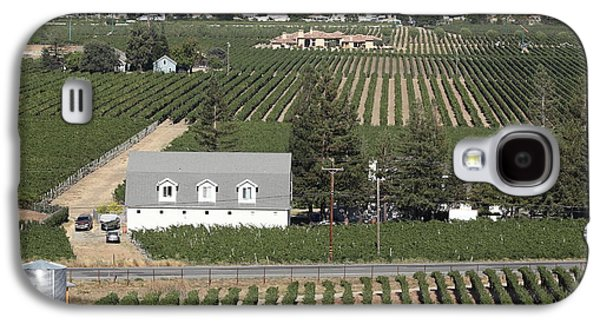 Napa Valley And Vineyards Galaxy S4 Cases - St Helena Vineyards Napa California 5D29499 square Galaxy S4 Case by Wingsdomain Art and Photography