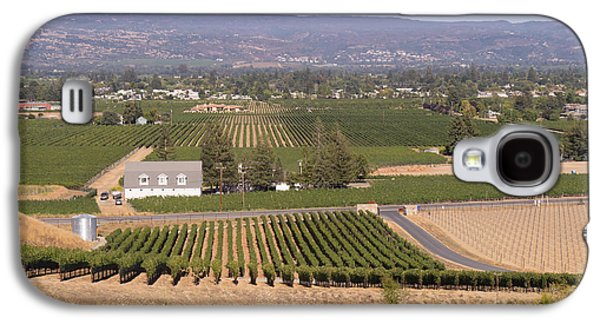 Napa Valley And Vineyards Galaxy S4 Cases - St Helena Vineyards Napa California DSC1739 Galaxy S4 Case by Wingsdomain Art and Photography