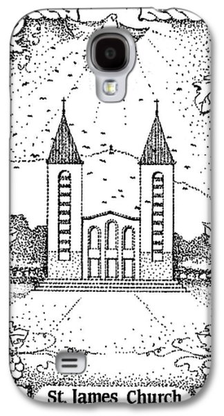 Inspirational. Pointillism Galaxy S4 Cases - St James and dove Galaxy S4 Case by Christina Verdgeline