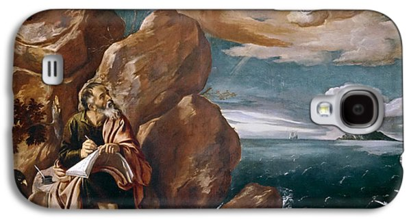St John The Evangelist Galaxy S4 Cases - St John the Evangelist on Patmos Galaxy S4 Case by Pedro Orrente