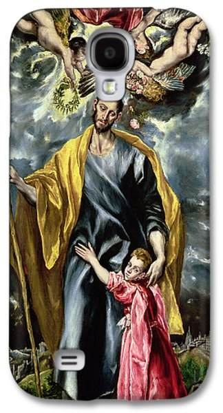 Saint Joseph And The Christ Child Galaxy S4 Case by El Greco