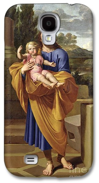 St. Joseph Carrying The Infant Jesus Galaxy S4 Case by Pierre  Letellier