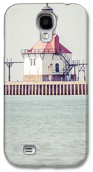 Saint Joseph Galaxy S4 Cases - St. Joseph Lighthouse Vertical Panorama Photo Galaxy S4 Case by Paul Velgos