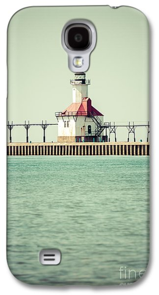 Lake House Galaxy S4 Cases - St. Joseph Lighthouse Vintage Picture  Galaxy S4 Case by Paul Velgos