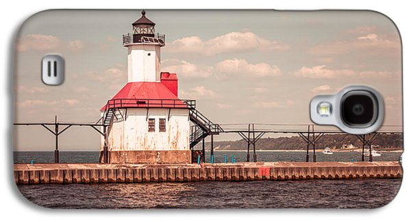 Saint Joseph Galaxy S4 Cases - St. Joseph Lighthouse Vintage Picture  Photo Galaxy S4 Case by Paul Velgos