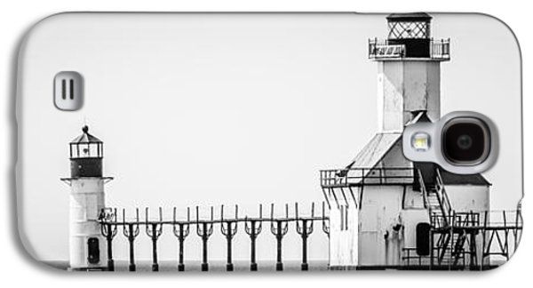 Lake House Galaxy S4 Cases - St. Joseph Lighthouses Panorama Picture Galaxy S4 Case by Paul Velgos
