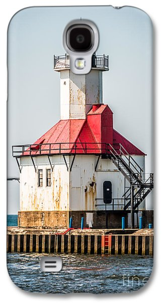 Lake House Galaxy S4 Cases - St. Joseph Michigan Lighthouse Picture  Galaxy S4 Case by Paul Velgos