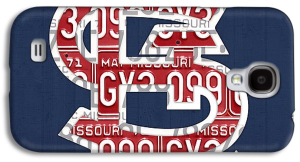 Number Galaxy S4 Cases - St. Louis Cardinals Baseball Vintage Logo License Plate Art Galaxy S4 Case by Design Turnpike