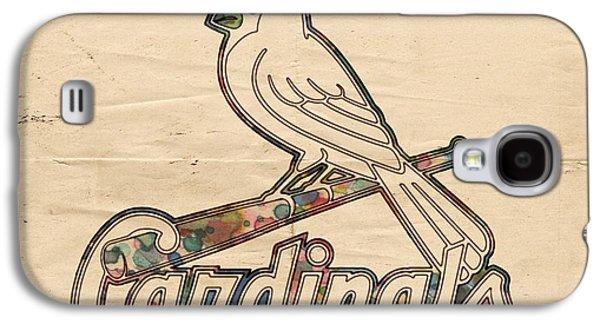 Bat Digital Art Galaxy S4 Cases - St Louis Cardinals Poster Vintage Galaxy S4 Case by Florian Rodarte