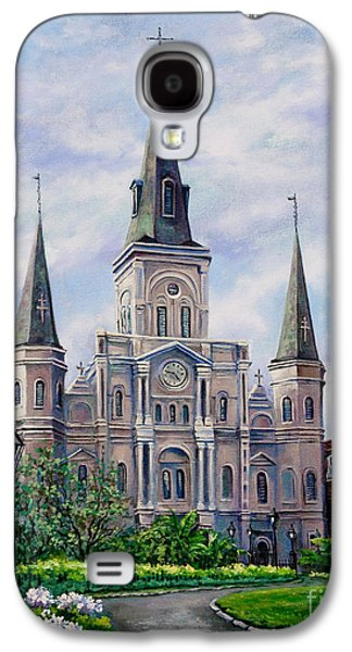 Religious Galaxy S4 Cases - St. Louis Cathedral Galaxy S4 Case by Dianne Parks