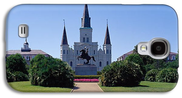 Religious Galaxy S4 Cases - St Louis Cathedral Jackson Square New Galaxy S4 Case by Panoramic Images