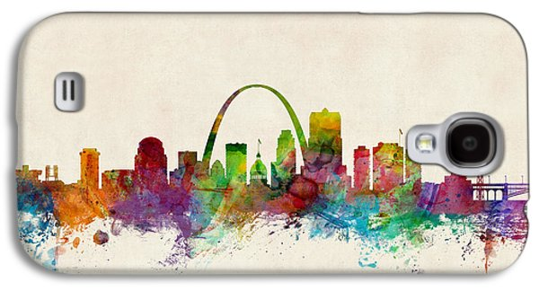Skyline Digital Art Galaxy S4 Cases - St Louis Missouri Skyline Galaxy S4 Case by Michael Tompsett