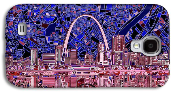 St Louis Skyline Abstract 6 Galaxy S4 Case by Bekim Art