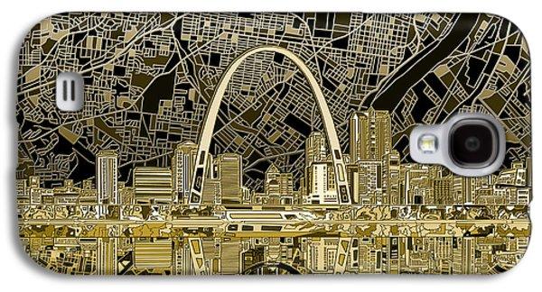 St Louis Skyline Abstract Galaxy S4 Case by Bekim Art