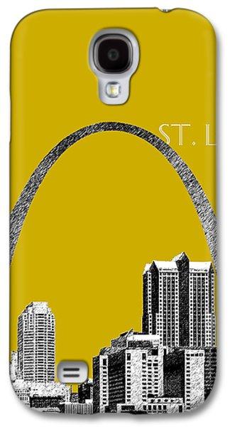 Office Decor Digital Galaxy S4 Cases - St Louis Skyline Gateway Arch - Gold Galaxy S4 Case by DB Artist
