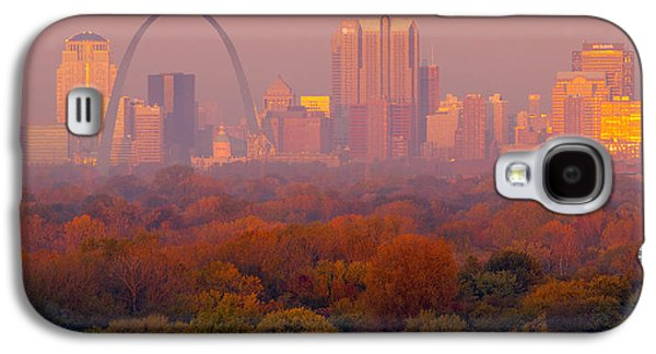 Autumn Landscape Pyrography Galaxy S4 Cases - St Louis Sunrise Galaxy S4 Case by Garry McMichael