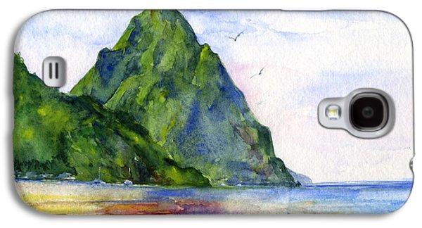 Island Galaxy S4 Cases - St. Lucia Galaxy S4 Case by John D Benson