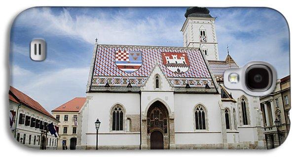 Ancient Pyrography Galaxy S4 Cases - St. Marks Church Galaxy S4 Case by Jelena Jovanovic