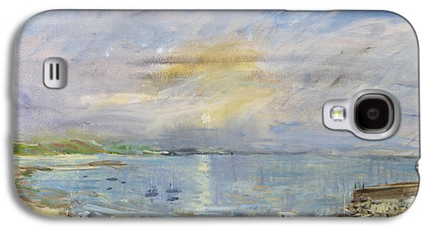 Beach Landscape Galaxy S4 Cases - St. Martins Bay, Scilly Isles, 1996 Oil On Canvas Galaxy S4 Case by Patricia Espir
