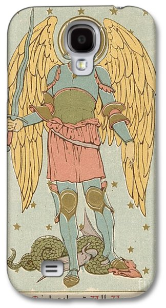 Saints Drawings Galaxy S4 Cases - St Michael and all Angels by English School Galaxy S4 Case by English School
