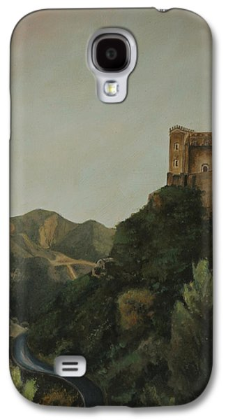 Sicily Paintings Galaxy S4 Cases - St Nicholas Church Savoca Galaxy S4 Case by Cecilia  Brendel