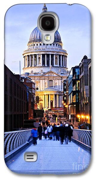 Evening Scenes Photographs Galaxy S4 Cases - St. Pauls Cathedral London at dusk Galaxy S4 Case by Elena Elisseeva