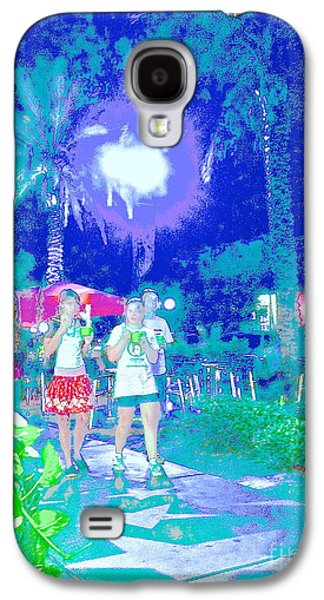Sunset Abstract Galaxy S4 Cases - St Pete Stars Galaxy S4 Case by Diane Phelps
