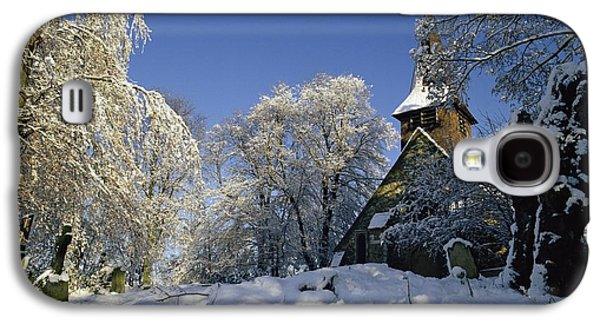 Trees In Snow Galaxy S4 Cases - St Peters Church in the Snow Galaxy S4 Case by Robert Hallmann