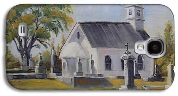 Headstones Paintings Galaxy S4 Cases - St. Sava Church Galaxy S4 Case by Cheryl Bloomfield