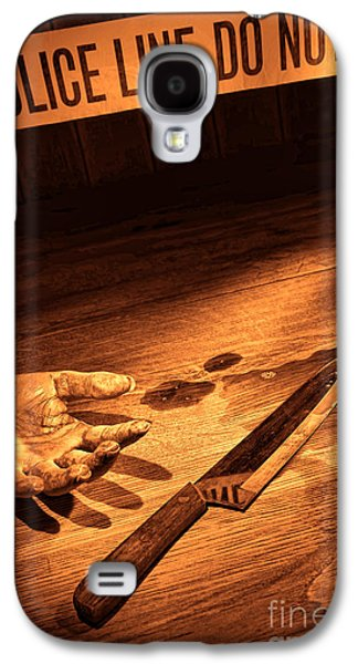 Police Galaxy S4 Cases - Stabbing Galaxy S4 Case by Olivier Le Queinec