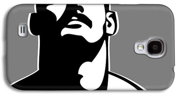 Mustache Galaxy S4 Cases - Stache B/W Galaxy S4 Case by Chris  Lopez